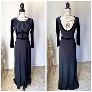 NW Night Way Black Maxi Formal Gown Dress